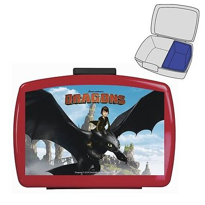Dragons - Snack Box Container Sandwich Box Lunchbox 16,5 x 11,5 x 6,5 cm