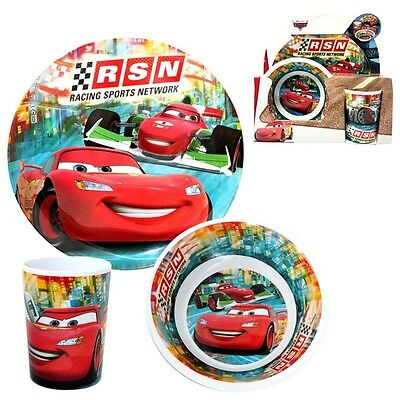 Disney Cars - Melamine Dinnerware Set Breakfast RSN (3 pcs)