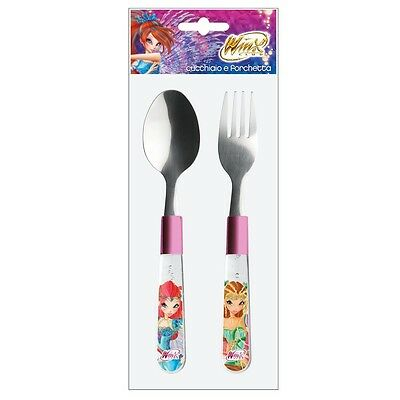 Winx Club - Bloomix - 2-piece children's cutlery set with plastic handle