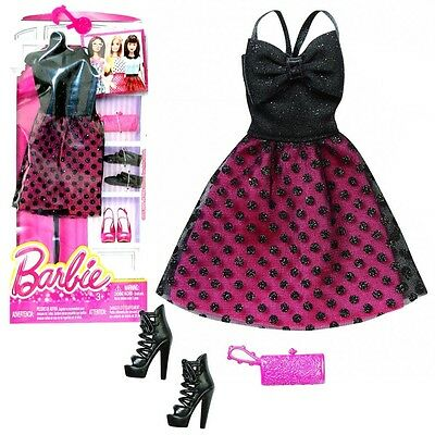 Barbie - Trend Fashion for Barbie Doll Clothes - Sun Dress Black Bordeaux