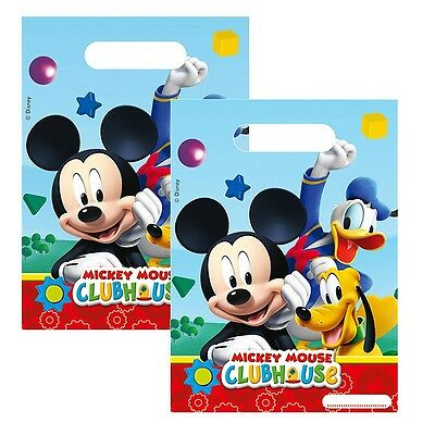 Disney Mickey Mouse - Party Birthday Gift Bags 6 Pieces
