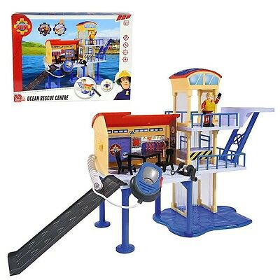 Fireman Sam - Ocean Rescue Centre with Microphone, Light, Sound and 2 Figures