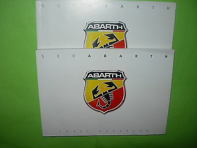 Fiat 500 Abarth Owners Handbook. + Blue&me Book. 2008 - 2015