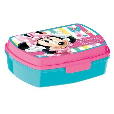 Disney Topolino Minnie Mouse - Box Spuntino - Lunchbox 17,0 x 12.0 x 5,0 cm