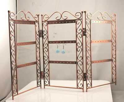 New Fashion Earrings  Copper Color Holder Folding Stand Rack Display