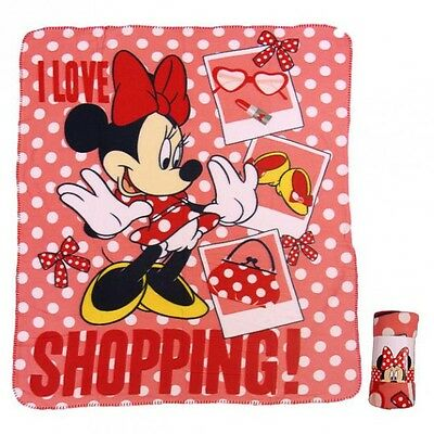 Disney Minnie Mouse - Manta Polar Roja 120 x 140 cm
