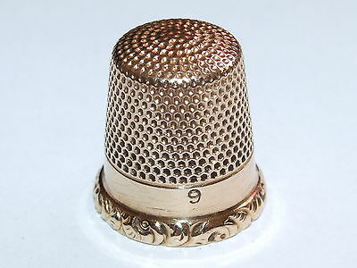 Beautiful, Lovely Condition c1890 Ketcham and McDougall Solid 14K Gold Thimble
