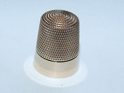 Beautiful, Lovely Condition c1890 Simons Brothers Solid 10K Rose Gold Thimble