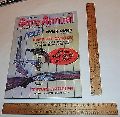 1974 GUNS ANNUAL - FIREARMS GUIDE - illustrated paperback BOOK