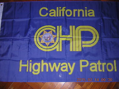 100% New Reproduced Flag of California Highway Patrol CHP Police Ensign 3ftX5ft