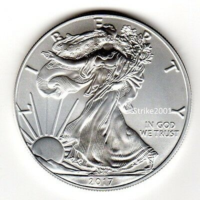 NEW !!! Dollaro USA 2017 Oncia Argento Liberty Eagle 1 oz NEW !!!