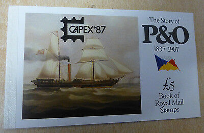 GB 1987 CAPEX overprint Story of P&O Prestige Booklet. VGC. Stamps
