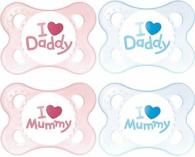 MAM STYLE SOOTHER 0+ MONTHS 2 PACK Baby/Toddler Soother/Dummy Blue/Pink  BN