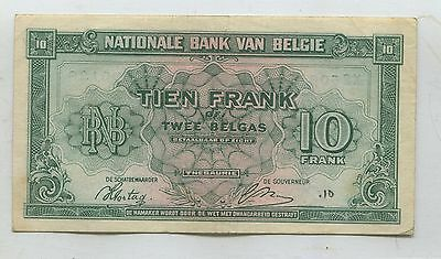 BELGUN 10 FRANCS  WW ll  - NOTE - WE COMBINE SHIPPING