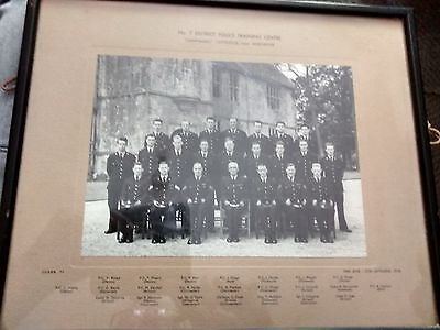 """1958 framed photo : No. 7 district Police Traing Centre """"Chantmarle"""" Cattistock"""