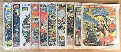 2000AD Featuring Judge Dread Comics Job Lot Number 250 To 259 - Year 1982