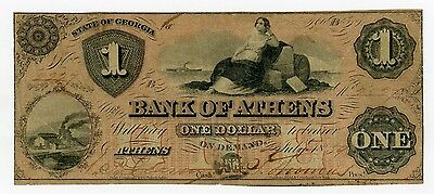 1859 $1 The Bank of Athens, GEORGIA Note