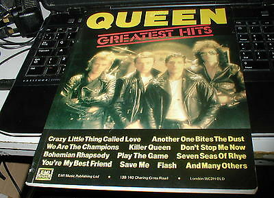 Queen Greatest Hits 1 Very Rare Originalsongbook/ Sheet Music Nice Condition