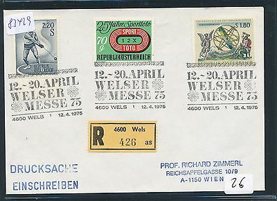 "83429) Österreich Reco, 4600 Wels ""as"" SST Messe 1975"
