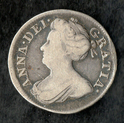 Queen Anne Maundy Fourpence Silver 1708