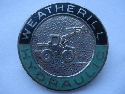 C1960S Vintage Weatherill Hydraulic Diggers Promotional Enamel Pin Badge