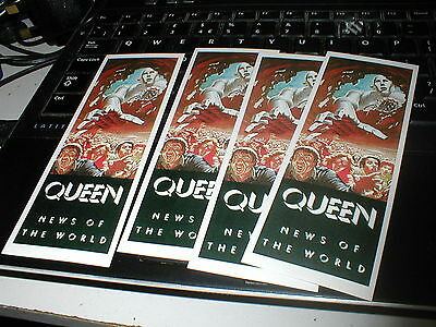 Queen News Of The World Set Of Five Stickers From The Convention.