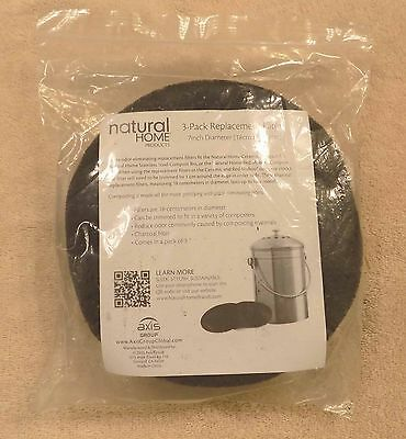 """Natural Home 3-Pack 7"""" (18cm) Replacement Composter Filters - FREE SHIPPING"""
