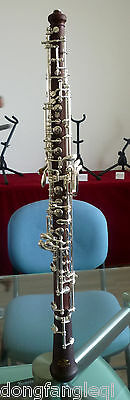 Silver Plated Professional System Semi Automatic Rosewood Oboe by Eastern music