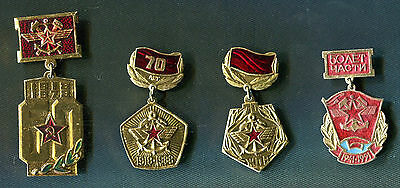Russia Military RAILROAD Troops 4 Pin Medal