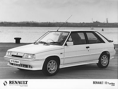 Renault 11 Turbo Press Photograph - 1988