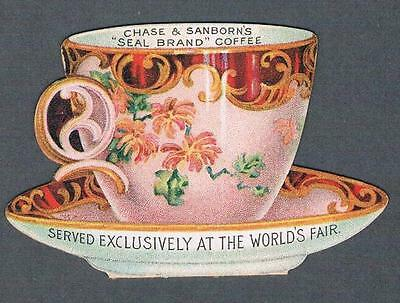1900's Beebe Bros. Figural Chase & Sanborn's Coffee Advertising Trade Card