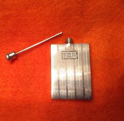 1920's rare American sterling silver perfume flask.