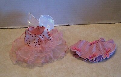 American Girl Angelina Ballerina Labeled Pink Fairy Tutu and Pink Shirt w Bows