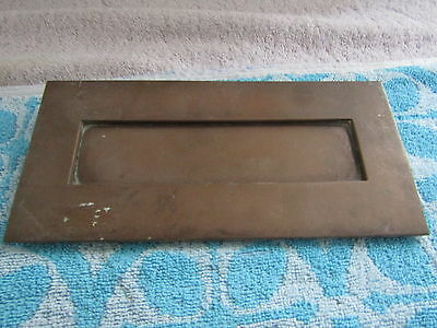 Antique/vintage Door Letter Box In Solid Brass. Good Condition