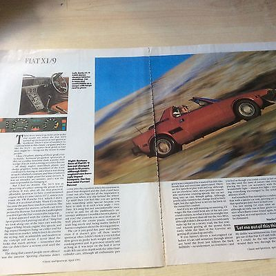 Fiat X1/9 Article 1991