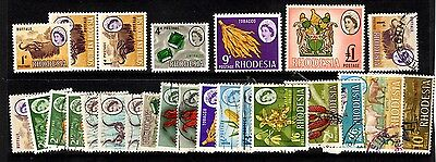 Rhodesia - 1966 Definitives to £1 - MNH/USed collection - some duplicates