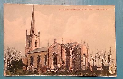 St John's Protestant church, Tipperary. Ireland. 1950's RP postcard. Unposted.