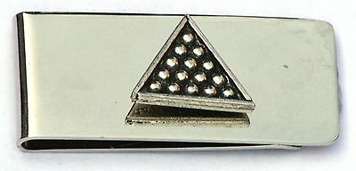 Snooker Triangle Pewter Design Money Clip Free Engraving Gift Award Present