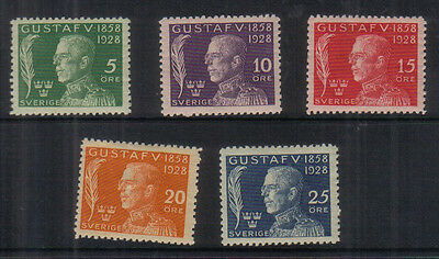 Sweden 1928 70th Birthday set lightly mounted mint