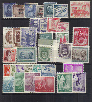 Chile 1950-60 Mint Collection