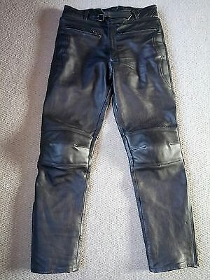Mens black Leather size 32 Rayven Motorcycle trousers