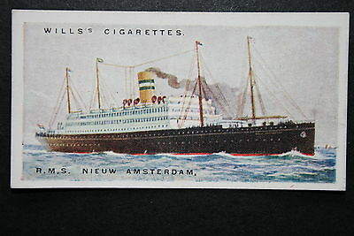 RMS NIEUW AMSTERDAM    Holland America Line    1920's Vintage Card   VGC
