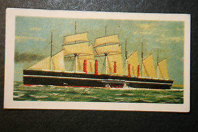 SS Great Eastern  Brunel's Sail Assisted Steam Ship   Vintage Colour Card # VGC