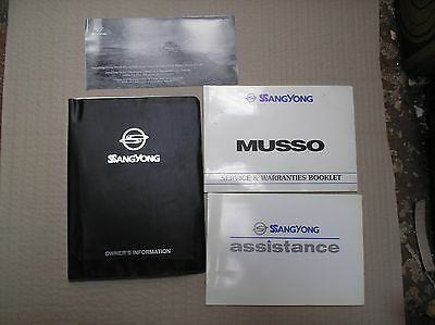 Ssang Yong musso owners information + service & warranties booklet UNUSED