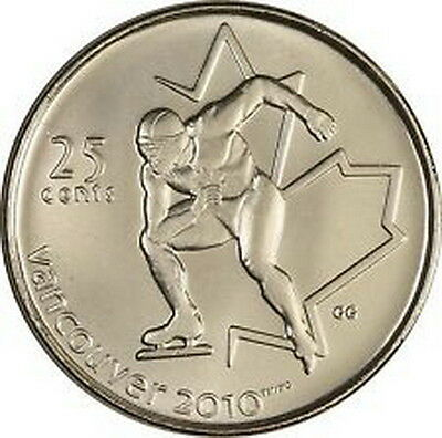 Canada - 25 cent 2009 - Speed Skating - Circulated