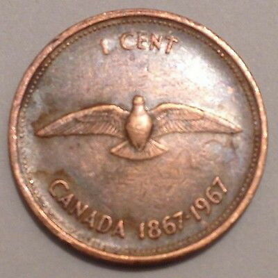 Canada - 1 cent 1967 - Circulated