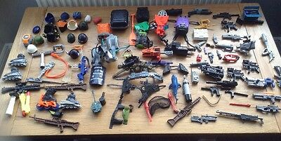 Large Collection / Job Lot Of Action Man Accessories / Weapons / Helmets Etc