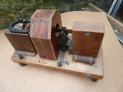 """vintage hand made in wood magnet electrical demo model 10x4""""6"""" tall"""