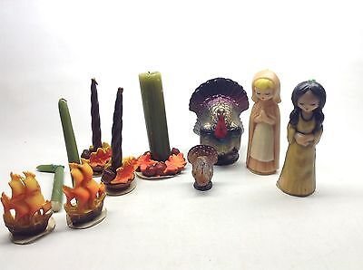 Vintage 9 Piece Lot Gurley Thanksgiving Candles
