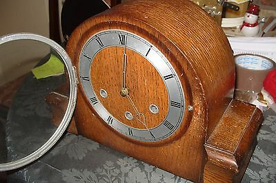 MANTEL  CLOCK SMITHS  WESTMINSTER  KEY  & PENDULUM No K6A 549 WORKING  SEE VIDEO